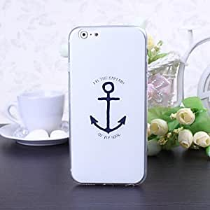 Captain Anchor Pattern Super Ultra TPU Soft Case for iPhone 6 Plus
