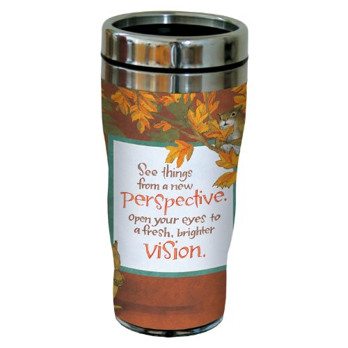 Tree-Free Greetings sg23480 Fall Squirrel's Perspective by Robin Pickens Sip 'N Go Stainless Steel Tumbler, 16-Ounce