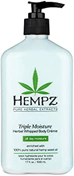 Hempz Natural Triple Moisture Herbal Whipped Body Creme 17 Fl Oz