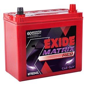 Exide Car Battery >> Exide Matrix Mtred 45l 45ah Battery Amazon In Car Motorbike