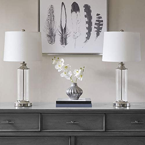 510 Design Clarity Table Lamp Set of 2 Silver See Below
