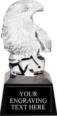 Eagle Crystal Trophy - Glass Eagle Award Prime