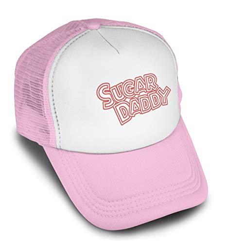 Maeznbfr Adults Toddler Mesh Sugar Daddy Hats Baseball Trucker Hat Pink
