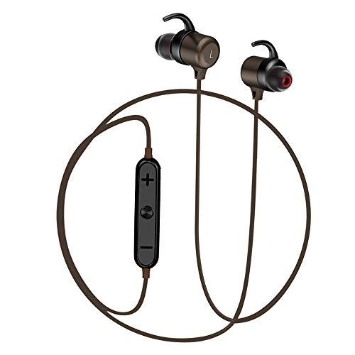 Nanle Bluetooth Headphones, IPX4 Waterproof Wireless aptX Stereo Magnetic in-Ear Earbuds, Secure Fit for Sports, Gym, Travelling (Built-in Noise Sweatproof) by Nanle