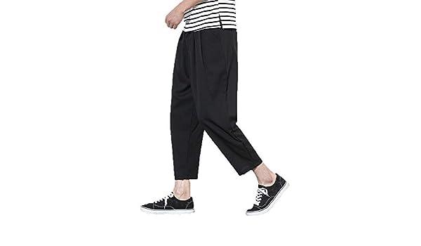 Kaister Sarouel - Pantalones Sueltos para Hombre (Lino, con ...