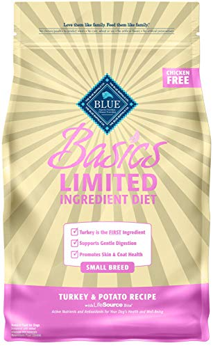 Blue Buffalo Basics Limited Ingredient Diet, Natural Adult Small Breed Dry Dog Food, Turkey & Potato 4-lb
