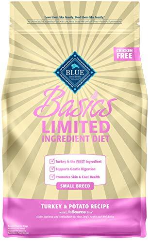 Blue Buffalo Basics Limited Ingredient Diet, Natural Adult Small Breed Dry Dog Food, Turkey & Potato 4-lb (Blue Buffalo Dog Toy Breed)