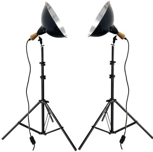 Impact Tungsten Two-Floodlight Kit with 6 Stands