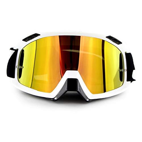 SEBAS Home High-End-Motorradhelm Langlaufbrillen Outdoor-Reitbrillen Skibrillen Schutzbrillen (Farbe : Weiß)