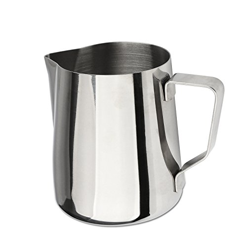 metal milk steaming pitcher - 2