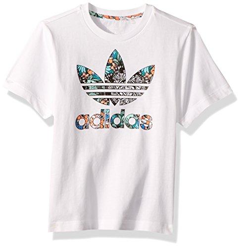 adidas Originals Girls' Toddler Zooanimal Print Tee, White/M