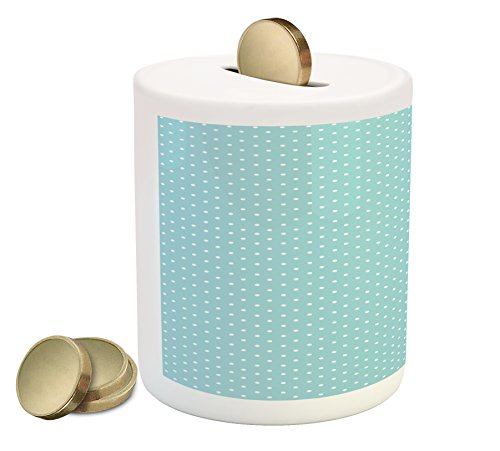 Cheap  Pale Blue Piggy Bank by Ambesonne, Classic Polka Dots Vintage Design Stylish..