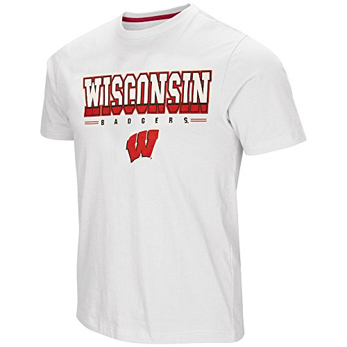 Colosseum Wisconsin Badgers Adult Tackle Shirt (XX-Large)