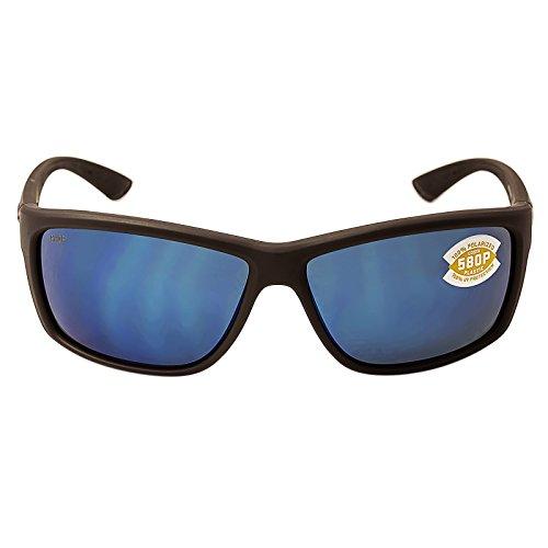 Costa Del Mar Mag Bay Sunglasses, Matte Gray, Blue Mirror 580P - Mar Bloke Del Costa