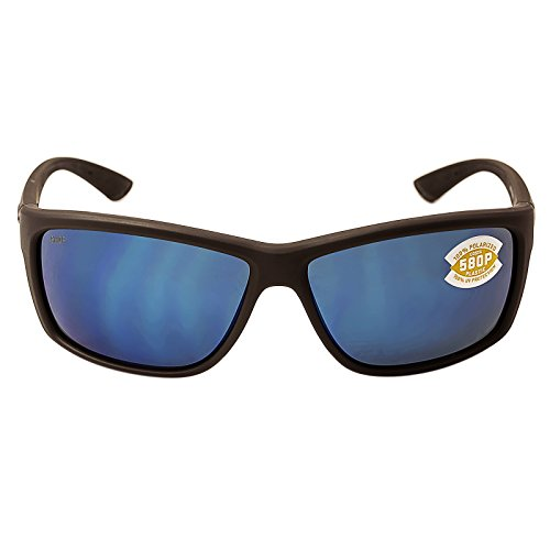 Costa Del Mar Mag Bay Sunglasses, Matte Gray, Blue Mirror 580P - Del 580p Mar Costa
