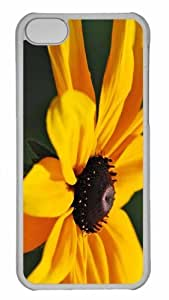 Customized iphone 5C PC Transparent Case - Yellow Flower 13 Personalized Cover