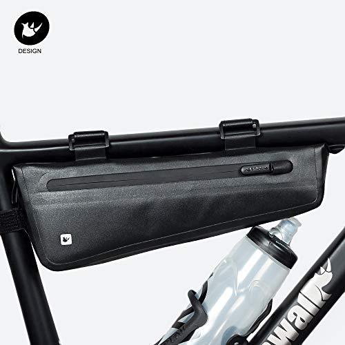 Rhinowalk Bike Bag Bike Frame Bag Waterproof Bike Triangle Bag Handlebar Bag Bicycle Pouch Under Tube Top Tube Pack Cycling Bike Saddle Bag Bicycle Bag Professional Cycling Accessories (Large-Black)