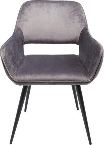 Kare Design San Francisco Chaise avec accoudoirs, Gris, 82 x 58,5 x 61 cm