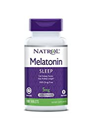 Natrol Melatonin Time Release Tablets, 5mg, 100 Count (pack o...