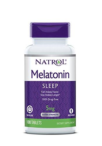 Natrol Melatonin Time Release Tablets, 5mg, 100 Count (pack of 2)
