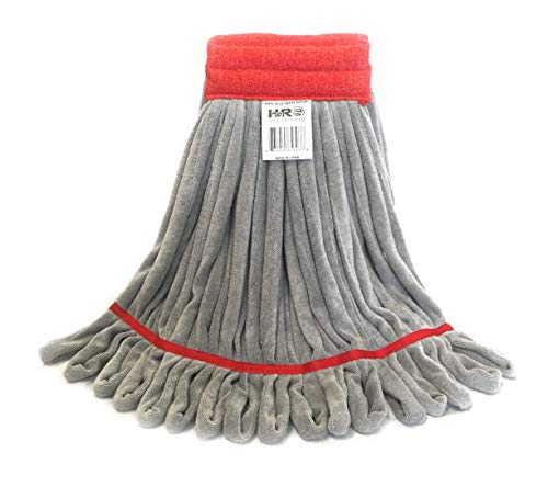 Hero Mop Head Replacement, Commercial Mop, Microfiber Mop Head with Nylon Scrubbing Pad - Red from HERO IMPORTS