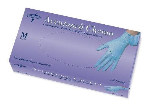 Accutouch Chemo Powder-Free, Latex-Free, Nitrile Exam Gloves, XL (10 boxes)
