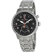 Lucien Piccard Complete Calendar Black Dial Men's Watch 40016-11