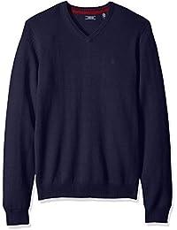Men's Premium Essentials Long Sleeve V-Neck Pullover...