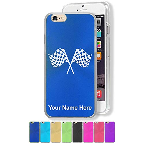 Case Compatible with iPhone 6 and iPhone 6s, Racing Flags, Personalized Engraving ()