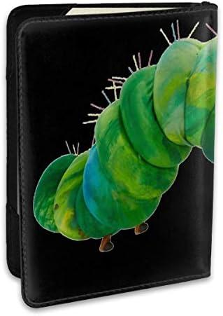 The Very Hungry Caterpillar はらぺこあおむし 絵本 パスポートケース メンズ 男女兼用 パスポートカバー パスポート用カバー パスポートバッグ ポーチ 6.5インチ高級PUレザー 三つのカードケース 家族 国内海外旅行用品 多機能