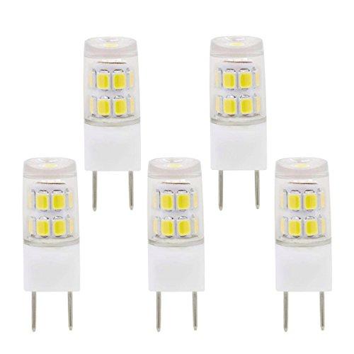 G8 LED Bulb,G8 GY8.6 Bi-pin Base, Not Dimmable 2W led Light Bulb (Replace 20 25W Halogen Bulb), White 6000K jcd Type t4 G8 gy8 120 Volt led Light (5 Pack)
