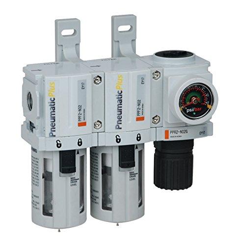 PneumaticPlus PPC2C-N02G Mini Three Stage Air Drying System, 1/4