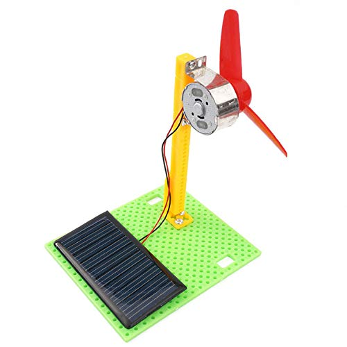 (Roysberry Toy - Plastic Solar Fan Model DIY Wooden Solar Fan Model Building Assembly Kids Toys, Perfect Gift for Children and)