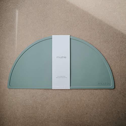 BPA-Free Non-Slip Design mushie Silicone Placemat for Kids Cambridge Blue