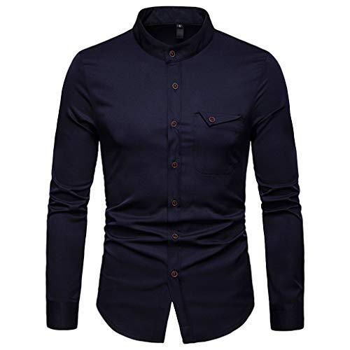 Chemises Grande Homme Pour Marine Blouse Ihengh Les Longue Manches Casual Top shirt Taille T Business Bouton Men Longues Manche À Haut qII6HzUw