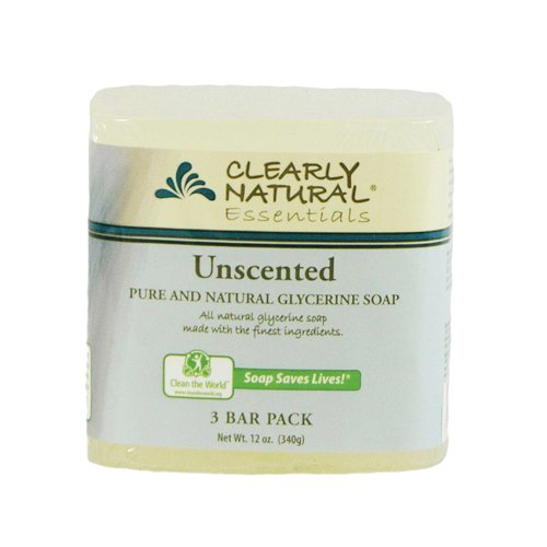 Clearly Natural Bar Soap Glyc Unsctd 3Pk 3/4 Oz