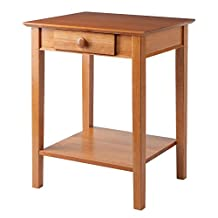 Winsome Wood Printer Stand with Drawer and Shelf, Honey