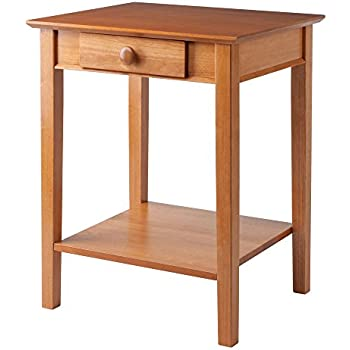 Beautiful Winsome Wood Printer Stand With Drawer And Shelf, Honey