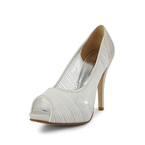Fabric Womens TH13134 Sandals White Parting Dress TDA High Chiffon Heel Stiletto Wedding Evening Bridal YRZ5q