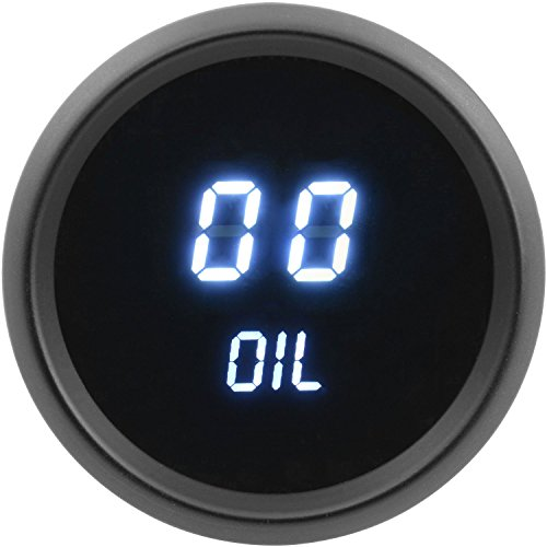 JEGS Performance Products 41410 Oil Pressure Gauge LED Digital 0 to 99 PSI 2-1/1