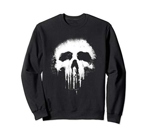 Marvel Punisher Scary Grungy Skull Logo Graphic Sweatshirt