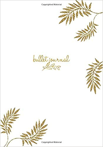 Amazon.com: Bullet Journal: Gold Blatt Notizbuch A5 Dotted ...