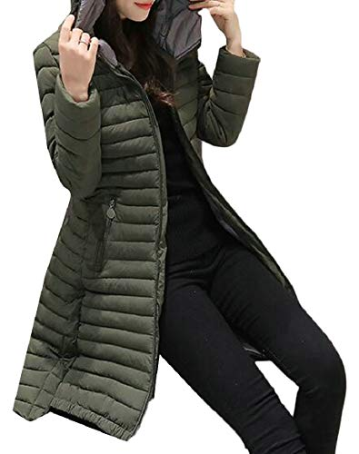 Women's security Green Slim Windproof Packable Down Hoodie Warm Jacket dxZpRwqx7