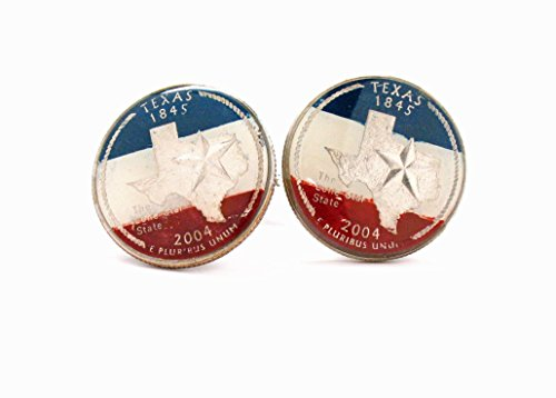 The Traveling Penny Texas Cufflinks Suit Flag State Coin Jewelry USA America Lone Star Cowboy Houston San Antonio Dallas Austin