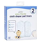 Ubbi Twin Pack Cloth Diaper Pail Liner, White by Ubbi