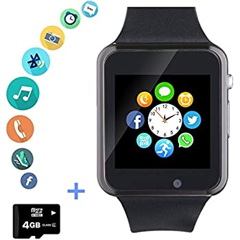 Amazon.com: Amazqi Smart Watch, Smartwatch Phone with Camera ...
