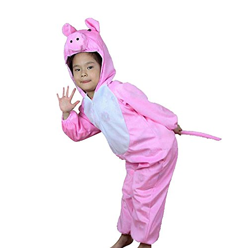 [Moolecole Halloween Christmas Kids Costume Toddler Baby Animal Costume Pig L] (Tiana Costume For Infant)