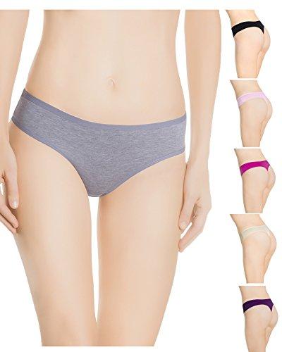 Nabtos Women Cotton Thong underwear panties (Pack of 6) (Small/5, Multi