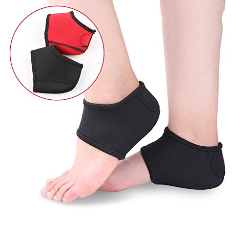 EDTara Foot Heel Ankle Wrap Pads Ankle Foot Pain Relief Socks Plantar Fasciitis Therapy Pain Relief Arch Support 2pcs