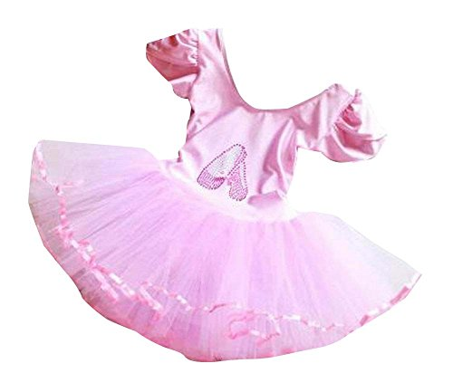 Pink Girls Bubble Skirt for Dancing Princess Dress for Kids